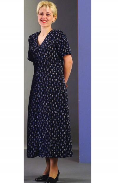 103 Dress (Navy Print Polyester) image