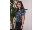 112 Top (in navy polyester print)  image