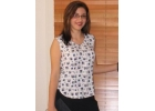 Shell Top (white polyester print) image